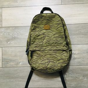 Pink Dolphin Green Camo Travel School Backpack